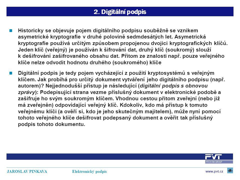 2. Digitální podpis