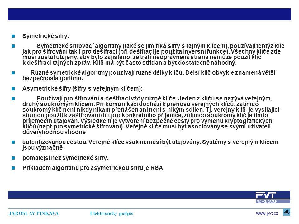 Symetrické šifry: