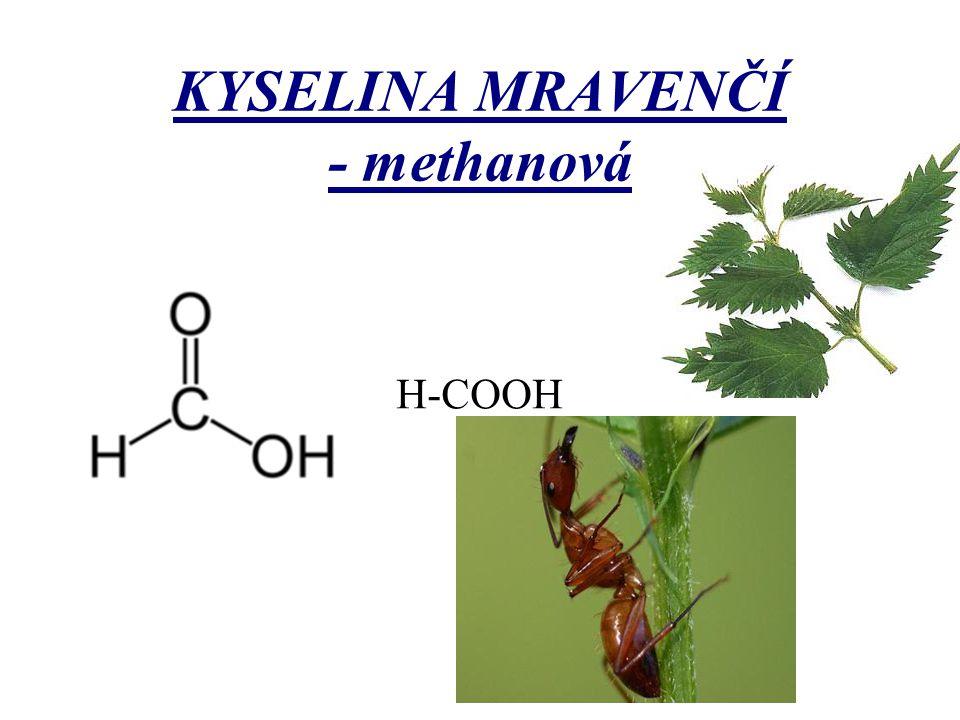 KYSELINA MRAVENČÍ - methanová