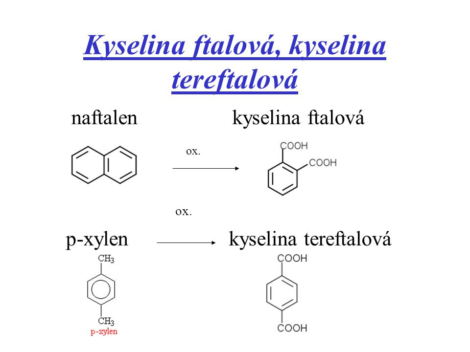 Kyselina ftalová, kyselina tereftalová