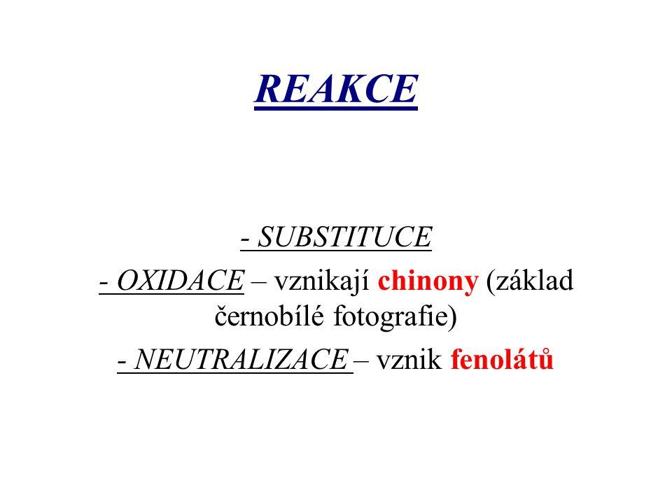 REAKCE - SUBSTITUCE.