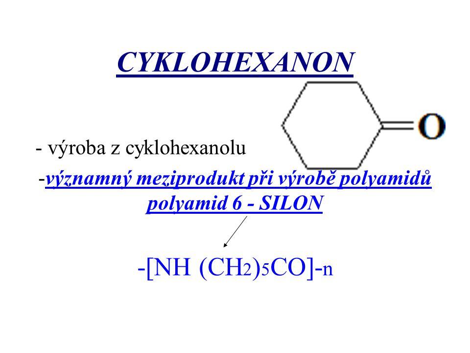 významný meziprodukt při výrobě polyamidů polyamid 6 - SILON