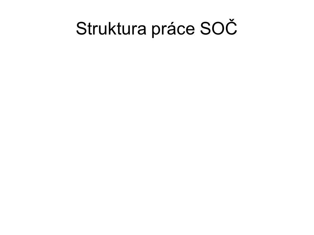 Struktura práce SOČ