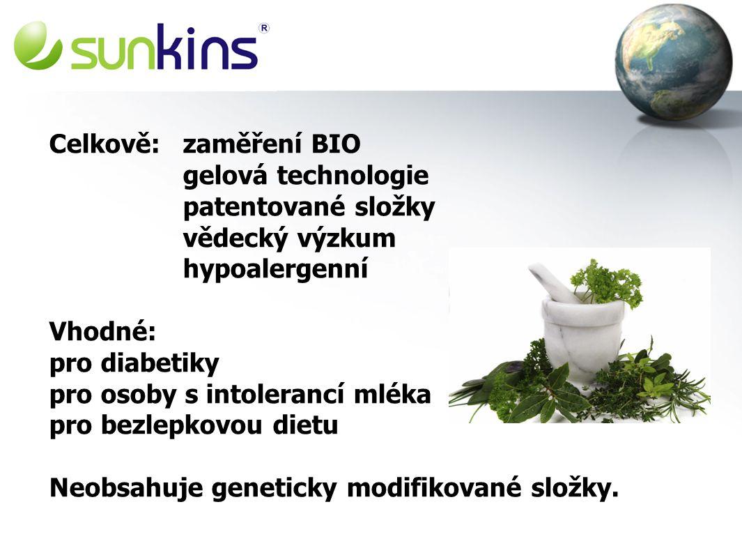 Celkově: zaměření BIO gelová technologie. patentované složky vědecký výzkum. hypoalergenní. Vhodné: