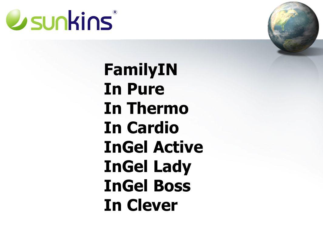 FamilyIN In Pure In Thermo In Cardio InGel Active InGel Lady InGel Boss In Clever