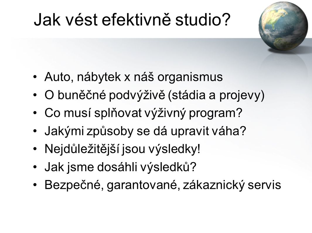 Jak vést efektivně studio