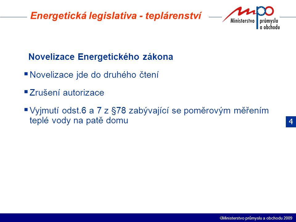 Energetická legislativa - teplárenství