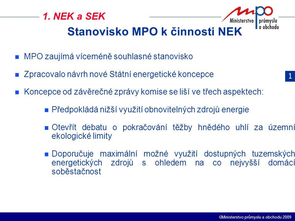 Stanovisko MPO k činnosti NEK