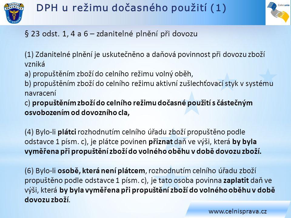 DPH u režimu dočasného použití (1)