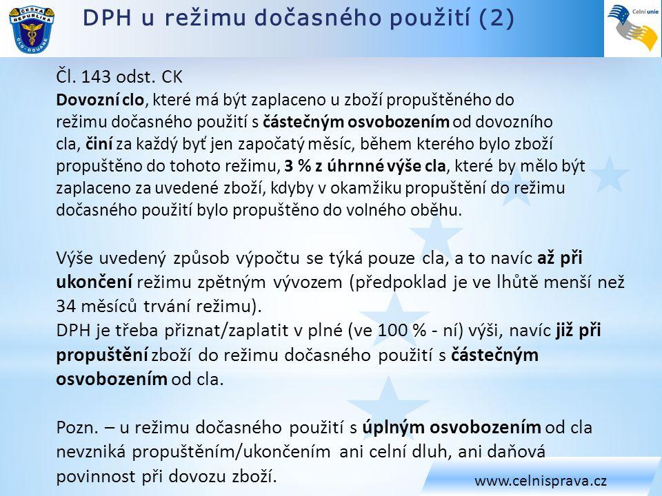 DPH u režimu dočasného použití (2)
