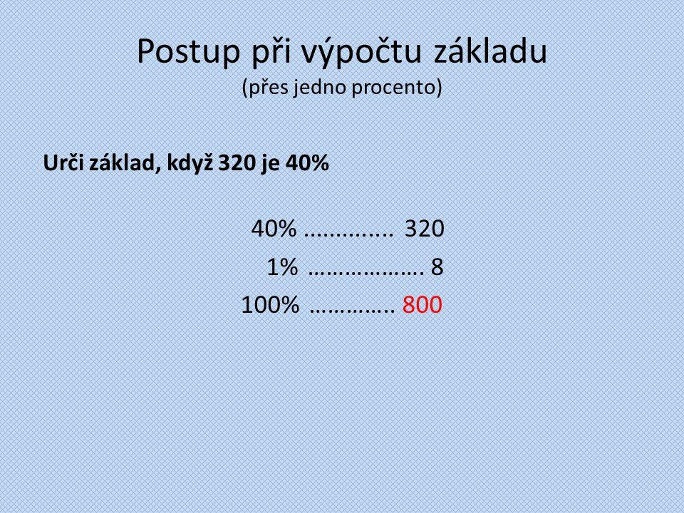 Postup při výpočtu základu (přes jedno procento)