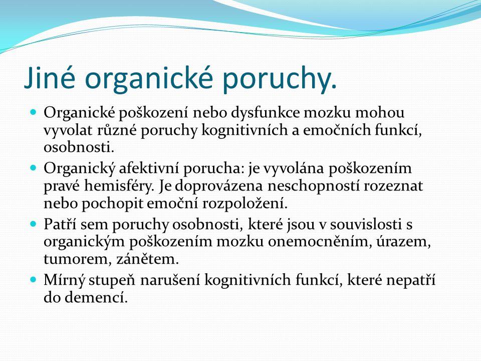 Jiné organické poruchy.