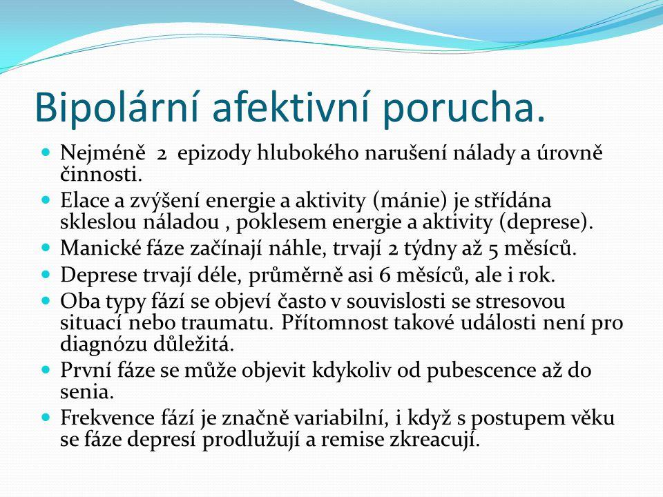 Bipolární afektivní porucha.