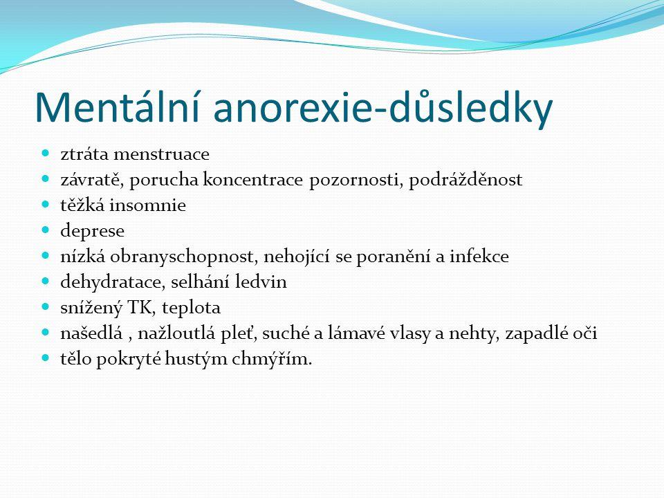 Mentální anorexie-důsledky