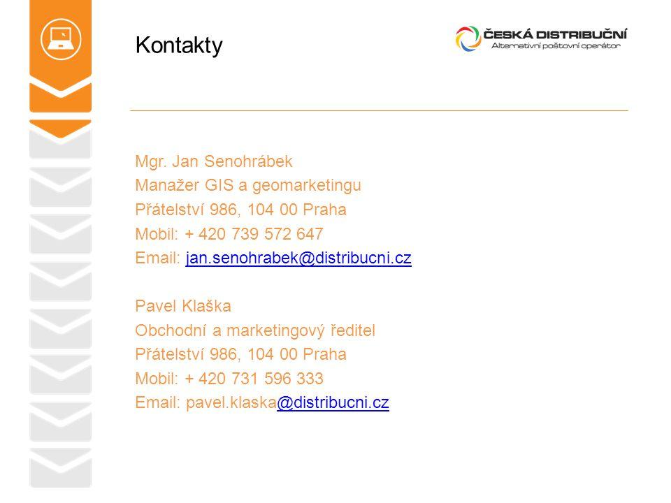 Kontakty Mgr. Jan Senohrábek Manažer GIS a geomarketingu