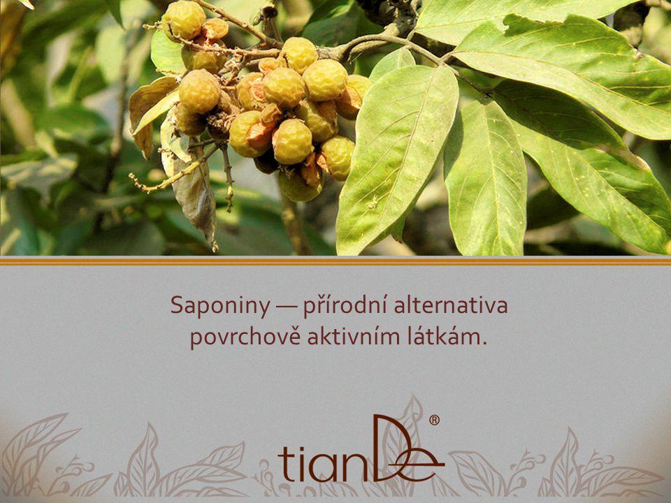 Saponiny — přírodní alternativa povrchově aktivním látkám.