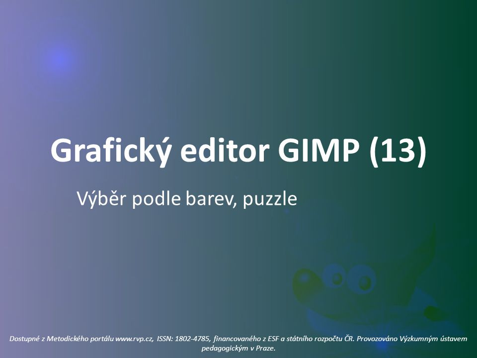 Grafický editor GIMP (13)