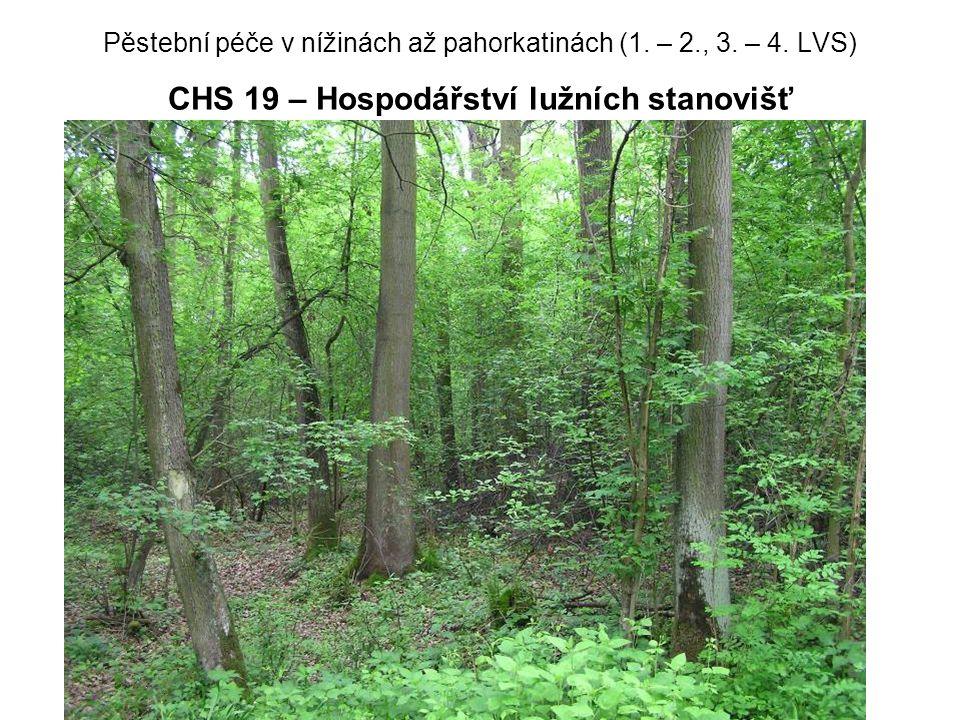 Pěstební péče v nížinách až pahorkatinách (1. – 2. , 3. – 4