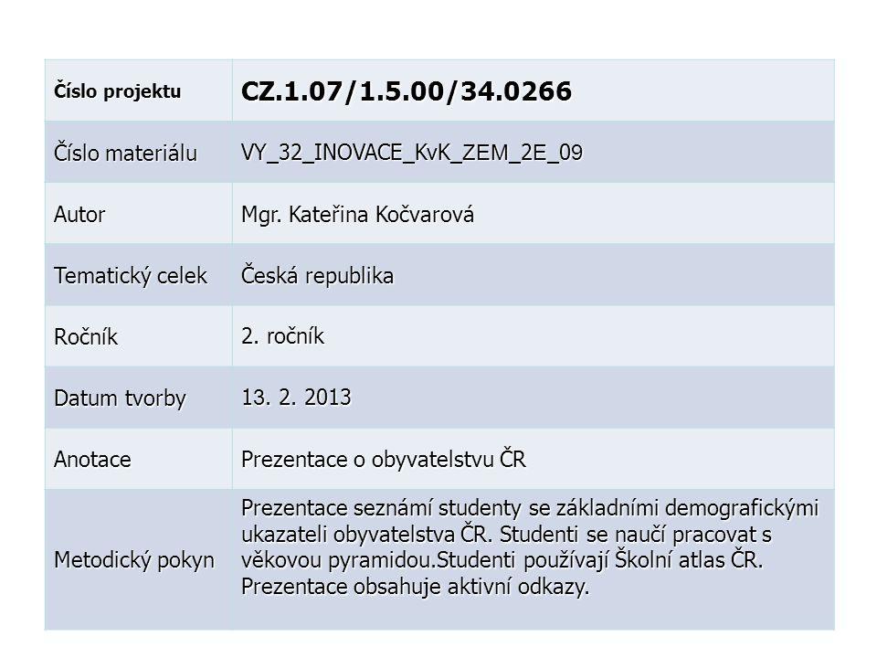 CZ.1.07/1.5.00/34.0266 Číslo materiálu VY_32_INOVACE_KvK_ZEM_2E_09