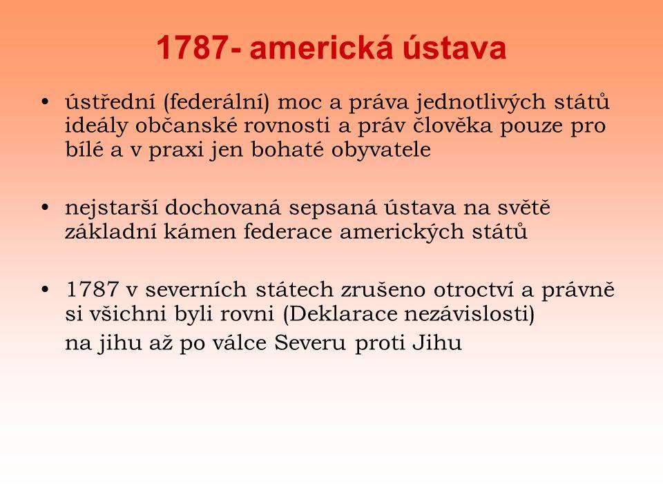 1787- americká ústava