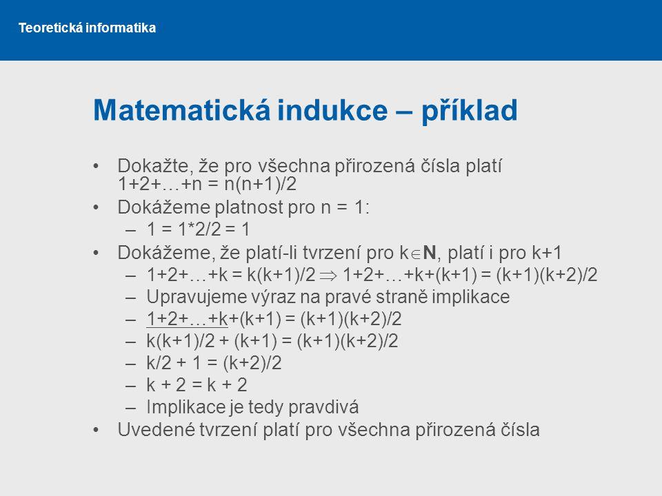 Matematická indukce – příklad