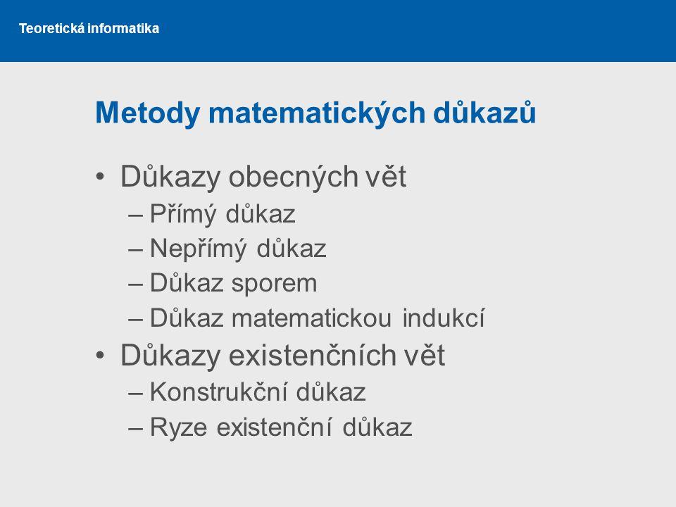Metody matematických důkazů