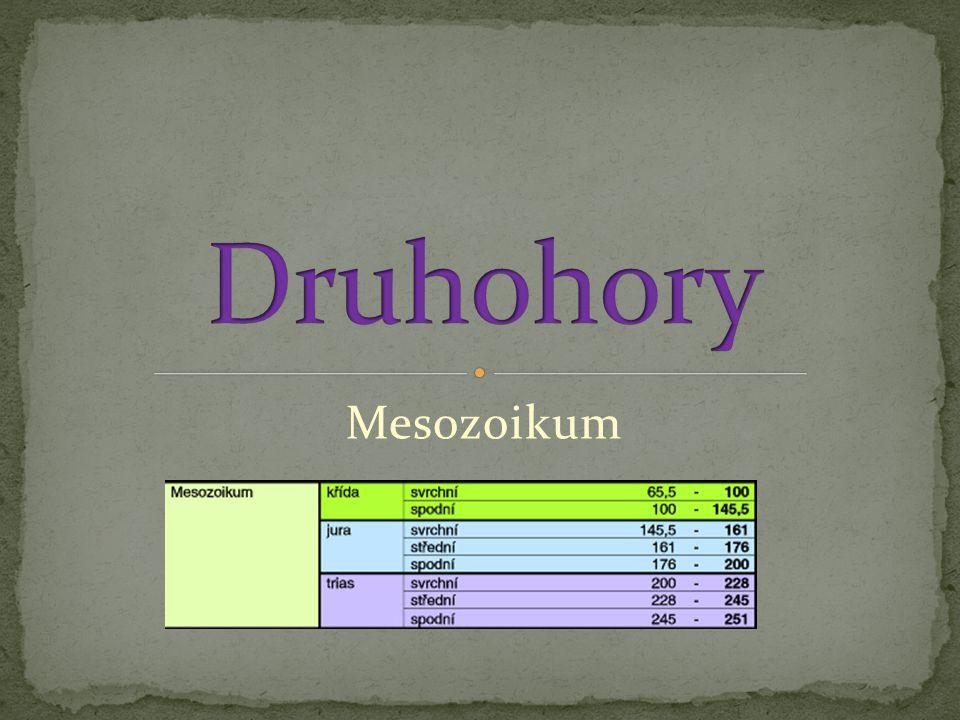 Druhohory Mesozoikum