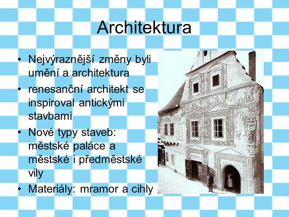 Architektura Nejvýraznější změny byli umění a architektura