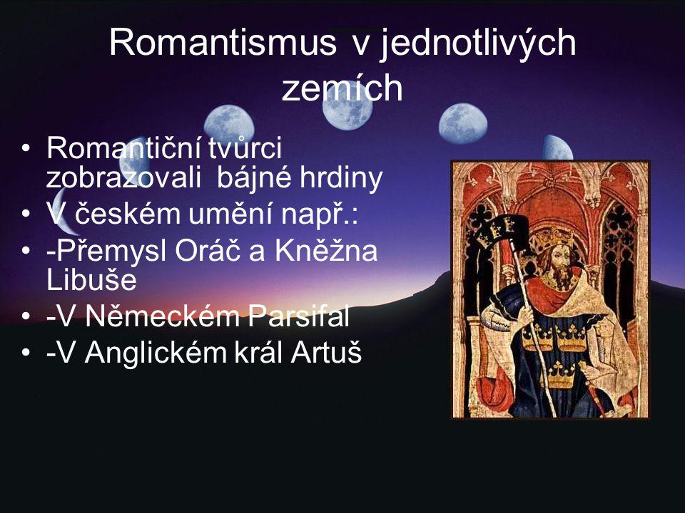 Romantismus v jednotlivých zemích
