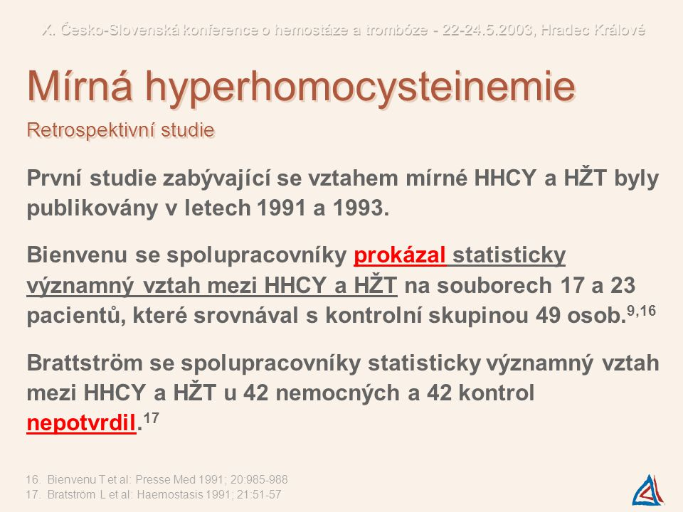 Mírná hyperhomocysteinemie