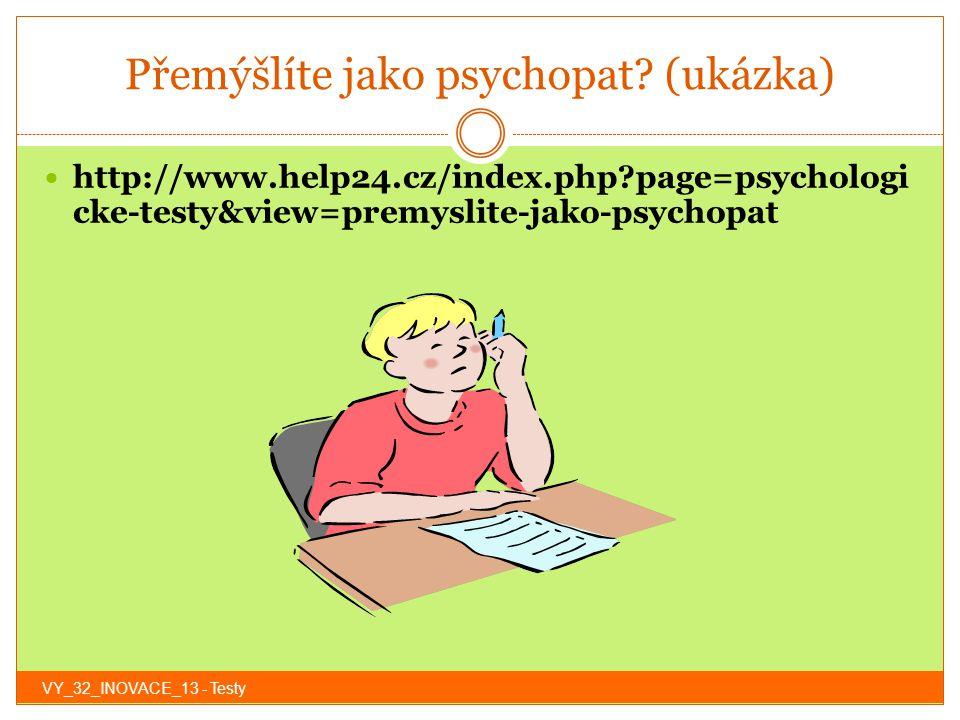 Přemýšlíte jako psychopat (ukázka)