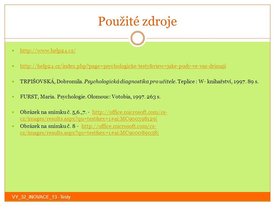 Použité zdroje http://www.help24.cz/