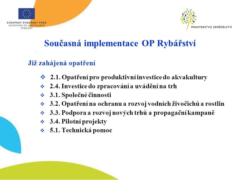 Současná implementace OP Rybářství
