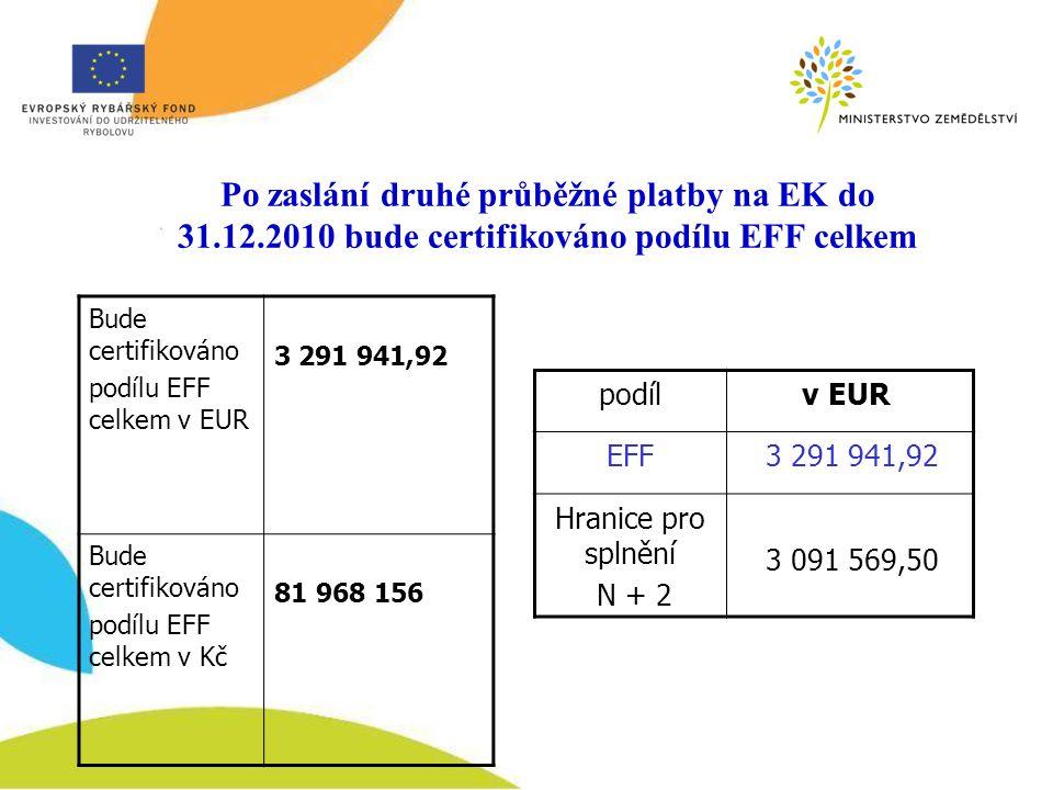 Po zaslání druhé průběžné platby na EK do 31. 12