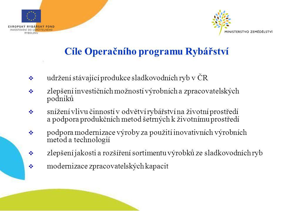 Cíle Operačního programu Rybářství