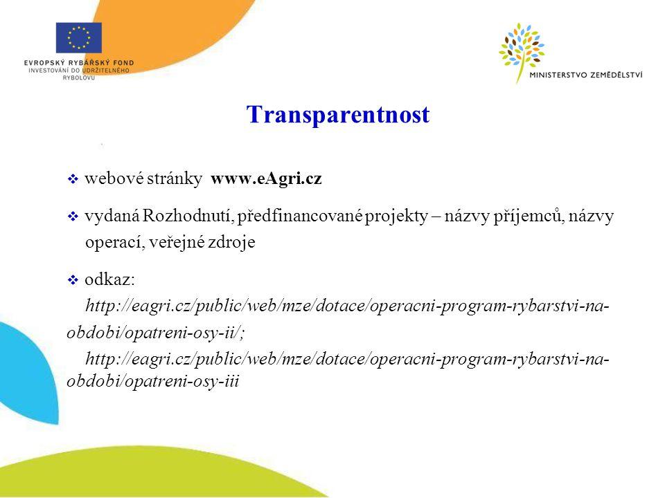 Transparentnost webové stránky www.eAgri.cz