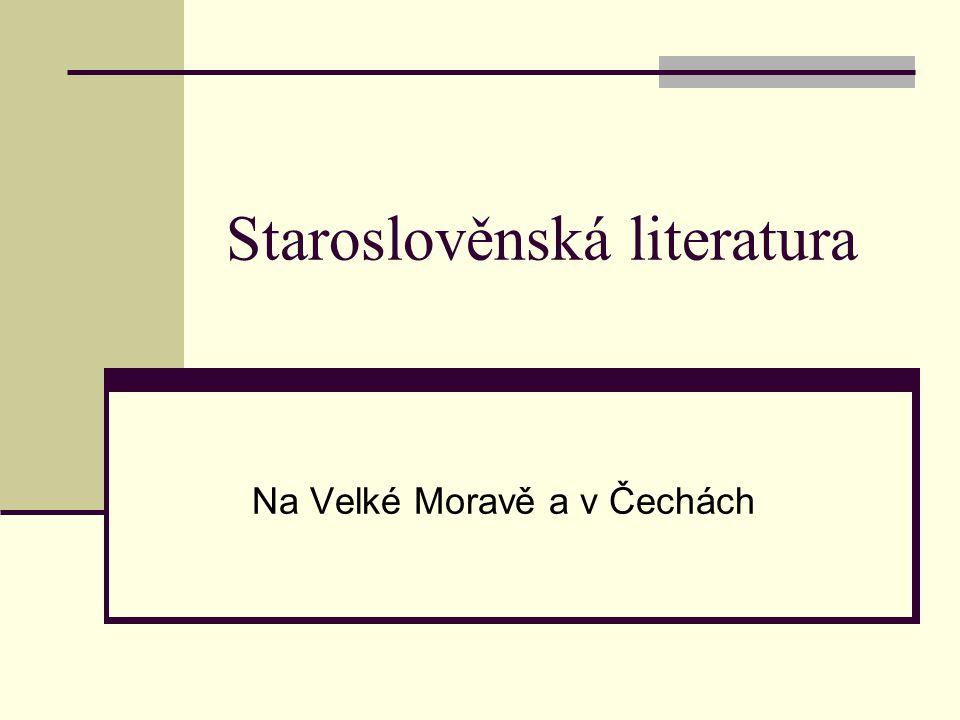 Staroslověnská literatura
