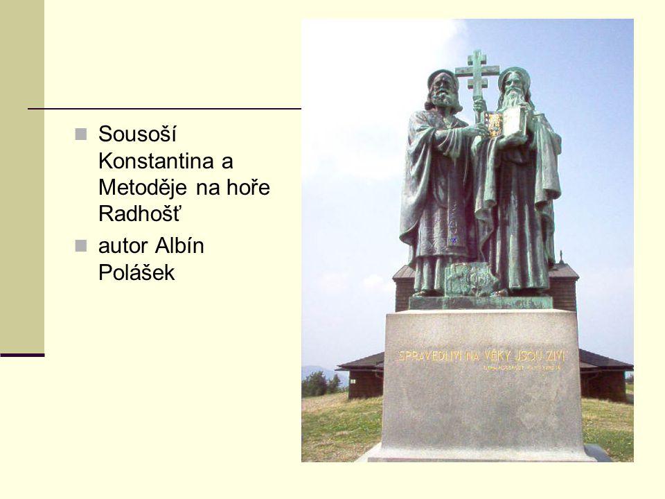 Sousoší Konstantina a Metoděje na hoře Radhošť