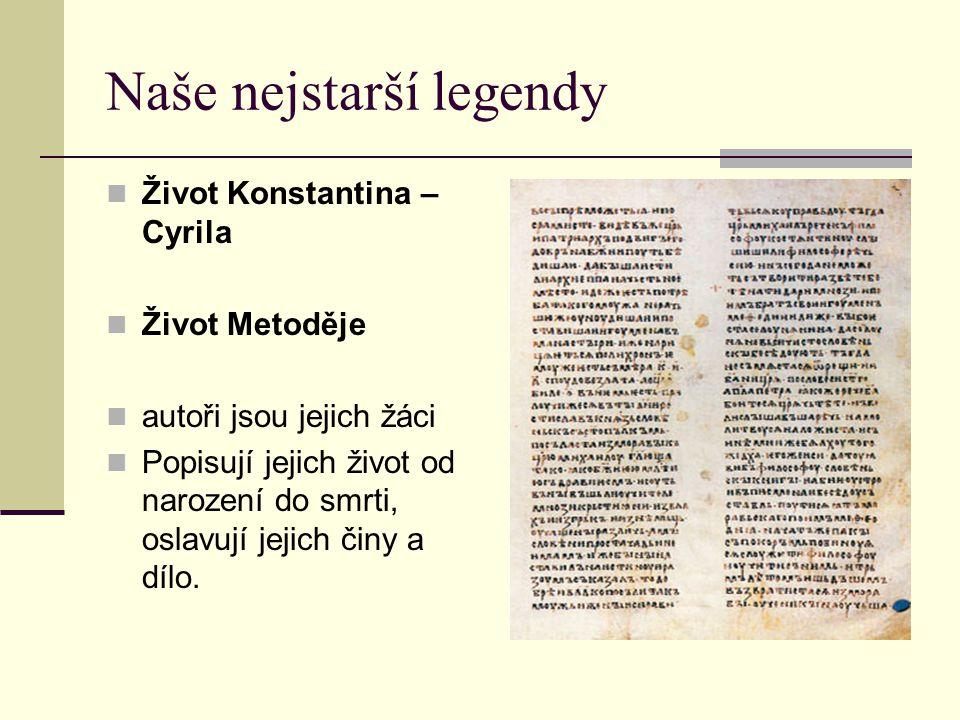 Naše nejstarší legendy