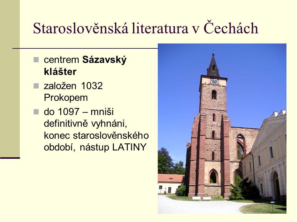 Staroslověnská literatura v Čechách