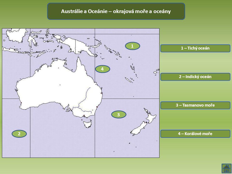Austrálie a Oceánie – okrajová moře a oceány