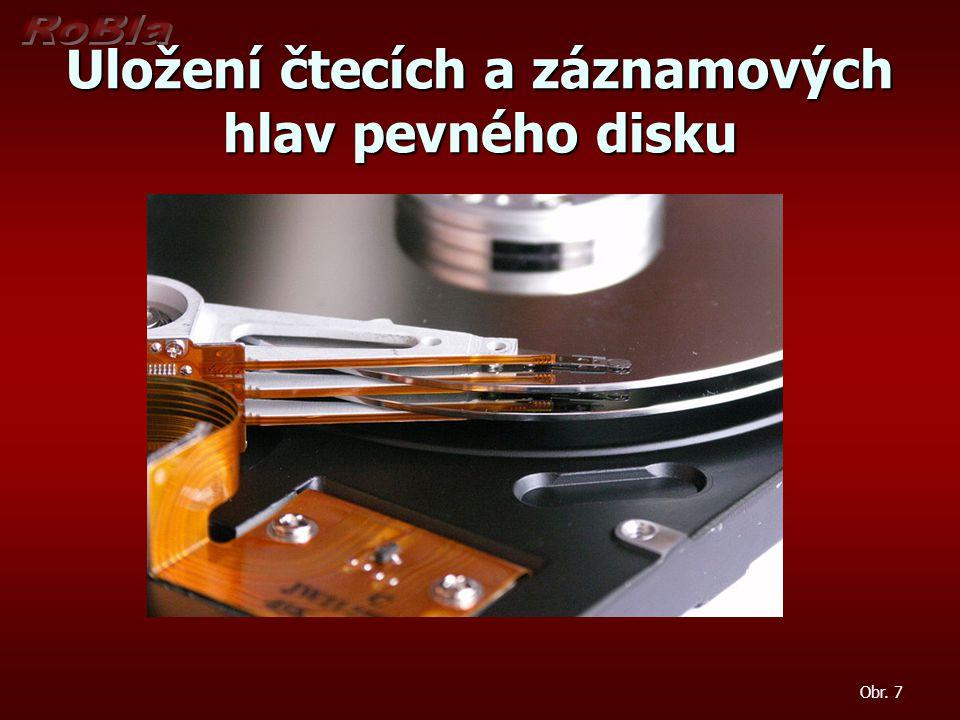 Uložení čtecích a záznamových hlav pevného disku