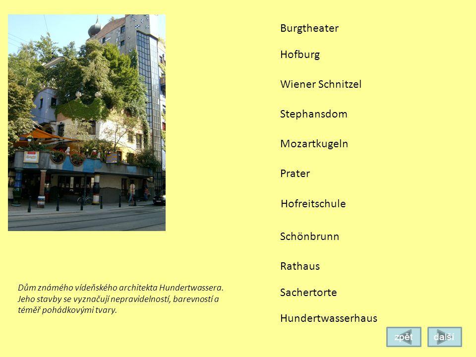 Burgtheater Hofburg Wiener Schnitzel Stephansdom Mozartkugeln Prater