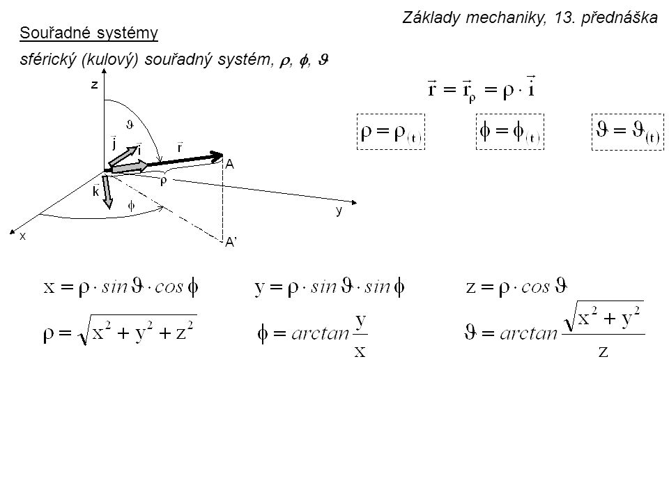 Základy mechaniky, 13. přednáška