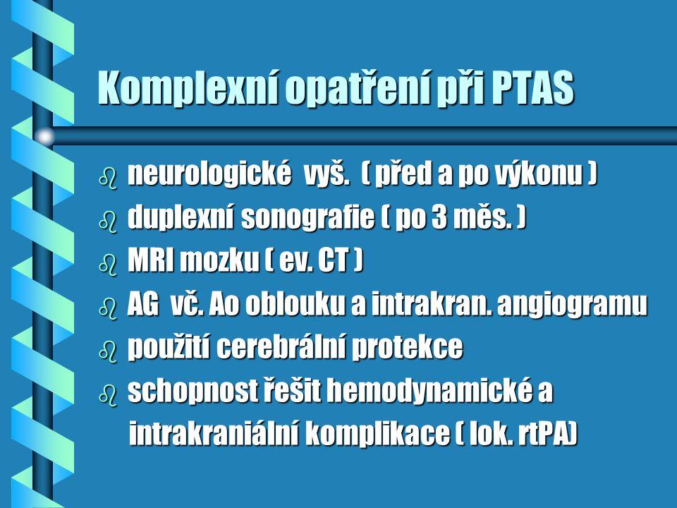 Komplexní opatření při PTAS