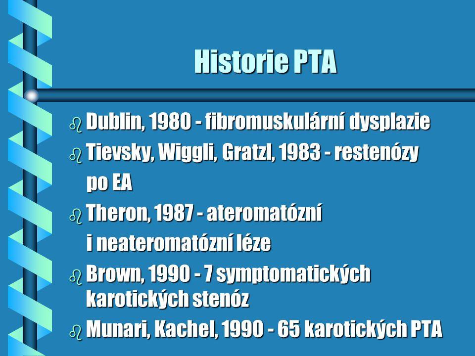 Historie PTA Dublin, 1980 - fibromuskulární dysplazie