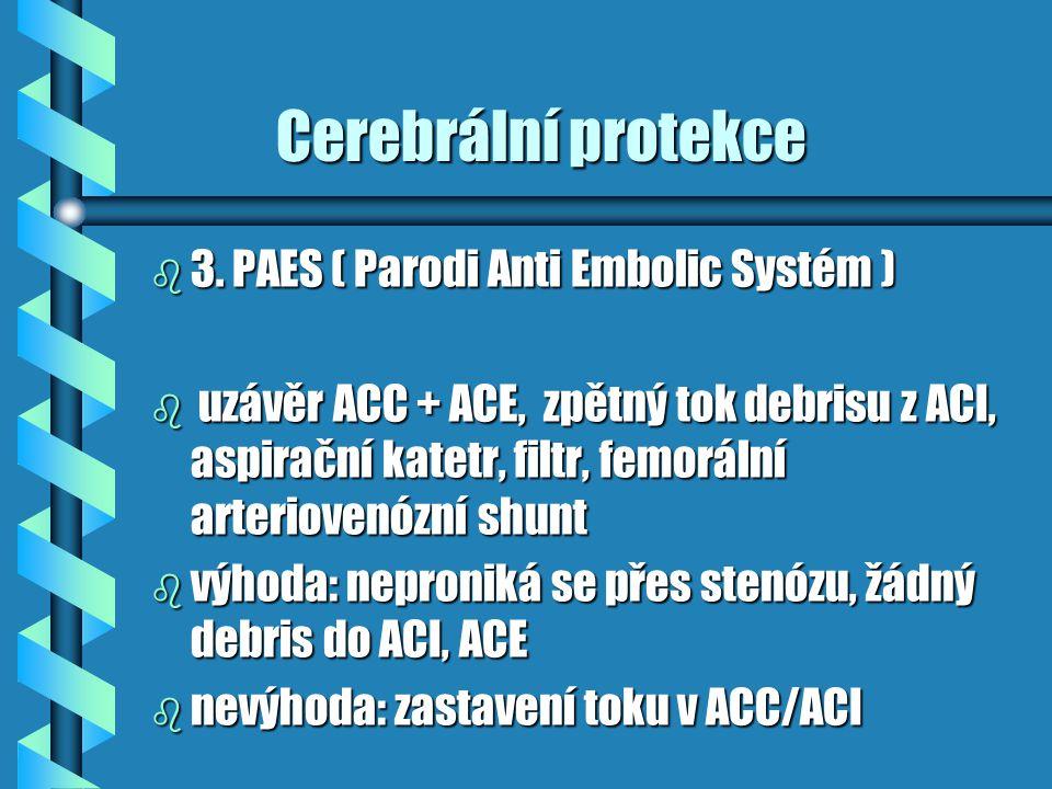 Cerebrální protekce 3. PAES ( Parodi Anti Embolic Systém )