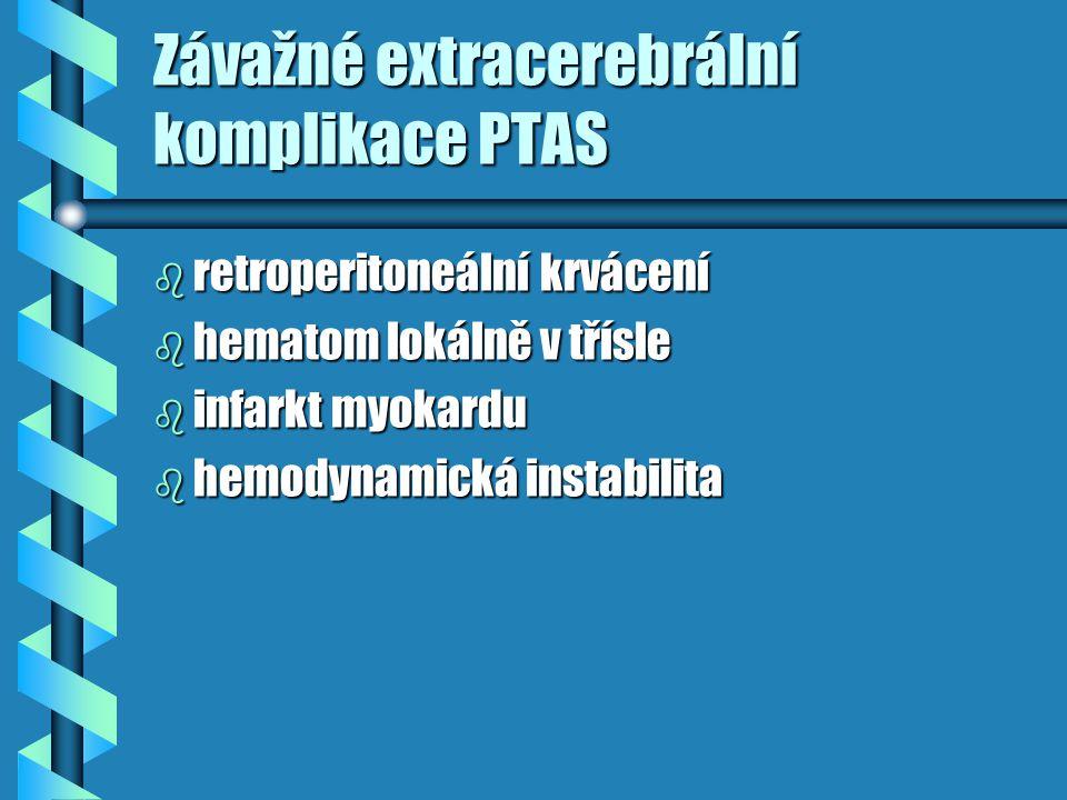 Závažné extracerebrální komplikace PTAS