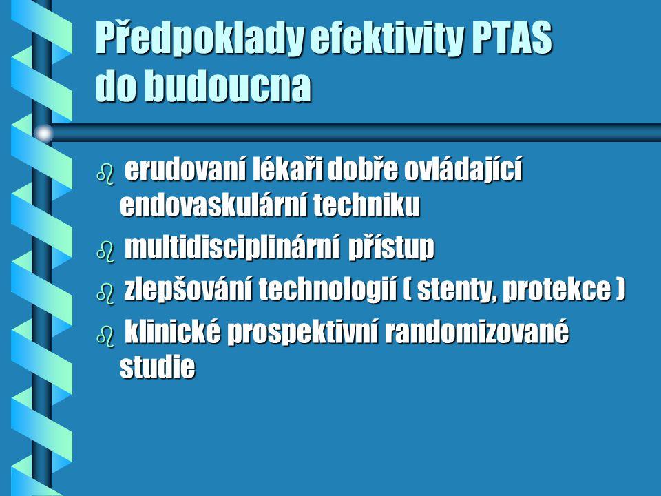 Předpoklady efektivity PTAS do budoucna