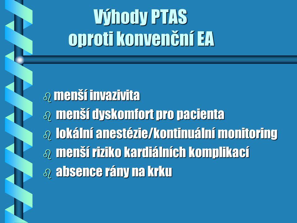 Výhody PTAS oproti konvenční EA